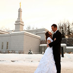 Anchorage Wedding: Joree & Kody at the LDS Temple