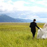 Anchorage Wedding: Dana & Tom along the Seward highway by Joe Connolly