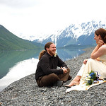 Natalie & Nick at the Alaska Heavenly Lodge by Joe Connolly