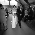 Girdwood Wedding: Paige & Michael at Our Lady of the Snows