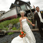 Seward Wedding: Christie & Chris at Lowell Point by Karen Hilton