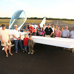 Chance and crew at Reidsville, GA airport after his successful first solo at age 16 by Joe Connolly