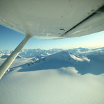 Cruisin over the Whiteout Glacier enroute to Eklutna Glacier by Joe Connolly