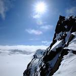Going up Hut Peak