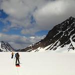 Crossing the Eklutna glacier
