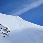 Bryan dropping in off Hut Peak