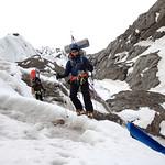 Coming off the Eklutna Glacier near the toe