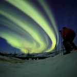 Nathaniel Capturing the Aurora by Joe Connolly