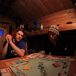 Monopoly at Caribou Bluff Cabin by Joe Connolly