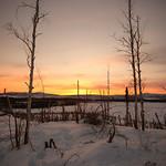 Sunset From Wolf Run Cabin by Joe Connolly
