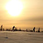 Nathaniel and Cameron Skiing by Joe Connolly