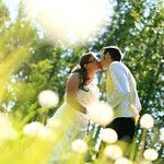 Anchorage Wedding: Anne & David at a Private Residence by Heather Thamm
