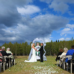 Anchorage Wedding: Elizabeth & Walker at Tanglewood Lakes Chalet by Josh Martinez